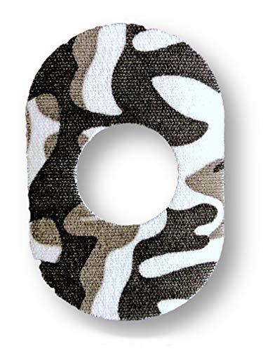 FixTape ademende sensor tape voor Freestyle Libre 1 & 2 I zelfklevende patch met gat voor glucose sensor I bijzonder huidvriendelijk en watervast in hippe designs I 7 stuks (Arctic)