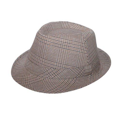 Mcap hommes de Plaid Fedora Hat - Beige - Large