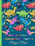 Libro de Colorear de Dinosaurios y Dragones: Libro de colorear para los niños, un gran regalo para niños, niñas, niños pequeños, niños en edad preescolar.