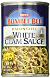 SNOW'S BY BUMBLE BEE Italian Style White Clam Sauce, Gluten Free Food, Canned Food, Delicious Sauce...
