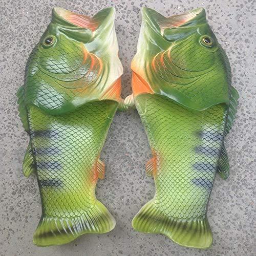 LINGZIA Sandalias Fish Flops Chanclas Chanclas Zapatillas de Playa y Piscina de Verano, Diapositivas de Mujer de Moda Unisex para Mujer 7 Verde