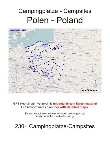 Campingplatz Verzeichnis POLEN ( mit GPS Daten und DETAILKARTEN) (German Edition)