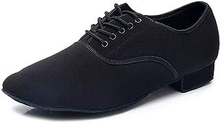 Hombres&Muchacho Cuero Zapatos latinos de baile/Zapatillas de baile/Tango Performance Calzado de Danza,Modelo ESACL-Men