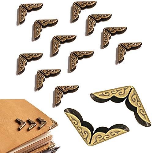 Yueser Esquina Bronce Antiguo,100 piezas Bronce Antiguo Esquina Protectors Libro Esquina Corner...