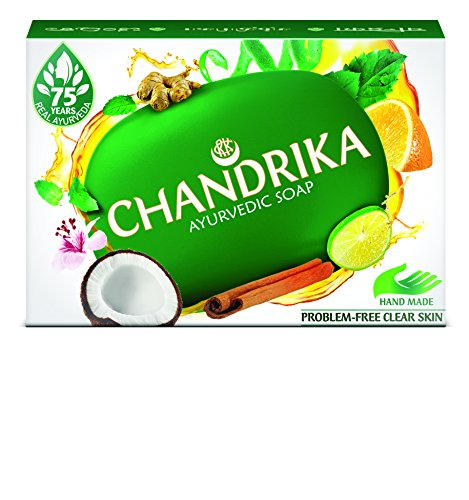 Ayurvedische Seife Chandrika mit 7 Ätherischen Öle 125 g ein Geschenk der Natur aus Indien
