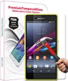 PThink® Ultra-Thin Tempered Glass Screen Protector for Sony Xperia Z1 Compact/Z1 Mini with 9H Hardness/Anti-Scratch/Fingerprint Resistant (Sony Xperia Z1 Compact)