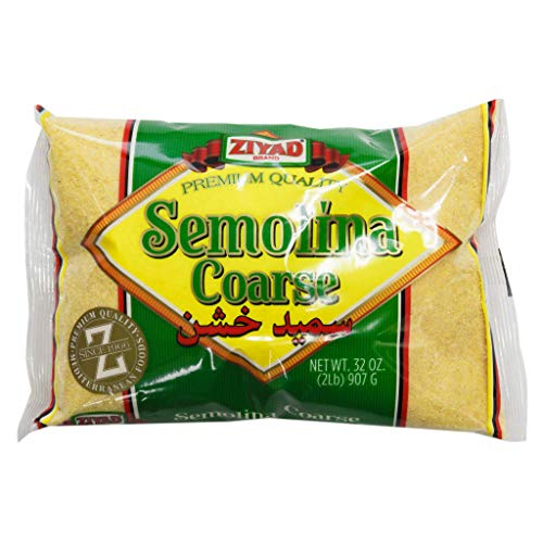 Ziyad Coarse Semolina Wheat, Smeed, Semolina Flout, Perfect for Stews, Soups, Gravy, Baking Breads, Biscuits, Pizza Crust with Low Fat, high Protein, High Fiber! 32oz