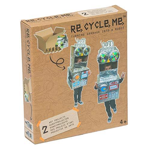Re Cycle Me DEFG1140 Recycling Bastelspaß Make A Themenwelt, Bastelset für 2 Roboter Kostüm Modelle, Kreativset für Kinder ab 4 Jahre, Set zum Basteln mit Haushaltsmaterialien, Recycle Mich, Bastelmix