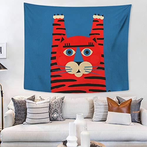 KHKJ Tapiz de Animales de Dibujos Animados Creativo Colgante de Pared Tapiz de Pared nórdico Linda Alfombra tapices de Tela de Pared A1 95x73cm