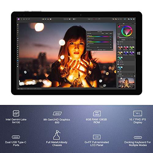 Chuwi Hi10 X Tablet PC 10,1  Sistema Operativo Windows 10 (Intel Gemini-Lake N4100) Quad-Core fino a 2,4 GHz , 1200 x 1920 IPS , 6 GB RAM + 128 GB ROM , Wi-Fi Dual Band , Bluetooth