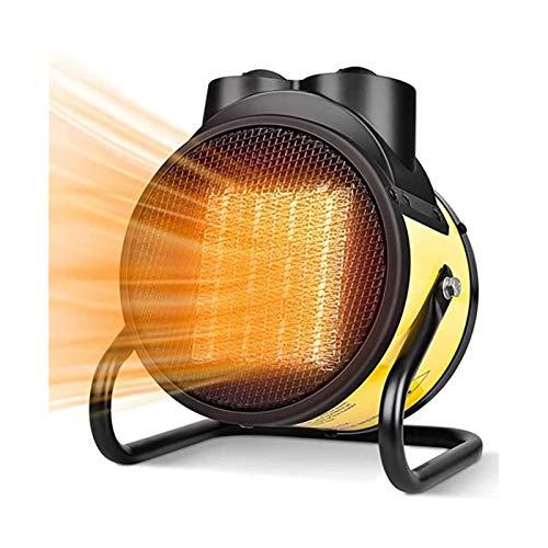 Calentador de espacio de área, ventilador de calentador eléctrico portátil, calentamiento rápido, temperatura ajustable y protección contra sobrecalentamiento, utilizado en la sala de estar Garaje
