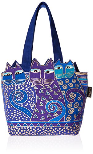Bright vivid colors 8-1/2x12-1/2x3-1/2 inch Medium Tote Features one main zippered compartment; one small zippered pocket inside