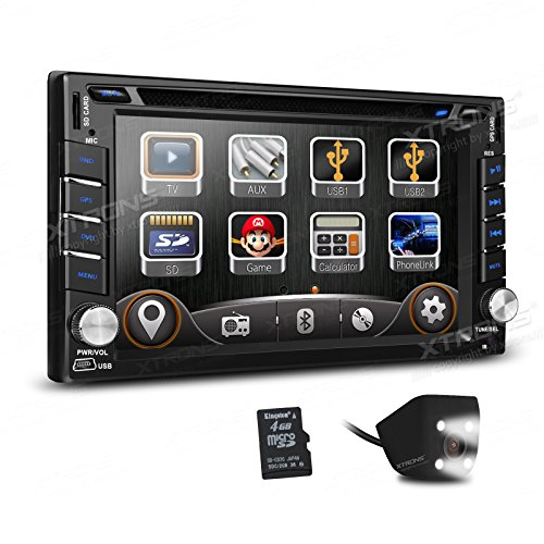 XTRONS Double 2 DIN 6.2 Inches HD Touchscreen Car Stereo DVD GPS Navi Player with Screen Mirroring Function