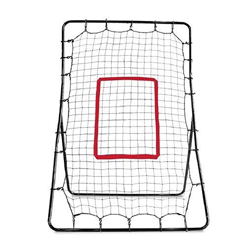 Baseball Und Softball Pitching Net Und Rebounder, Allwetter-Baseball-Rebounder Und Fielding-Trainer Pitching Throwing Practice Partner Mit 24 Elastischen Haken Und 21 Aktien PE Net, 48 X 67 Zoll