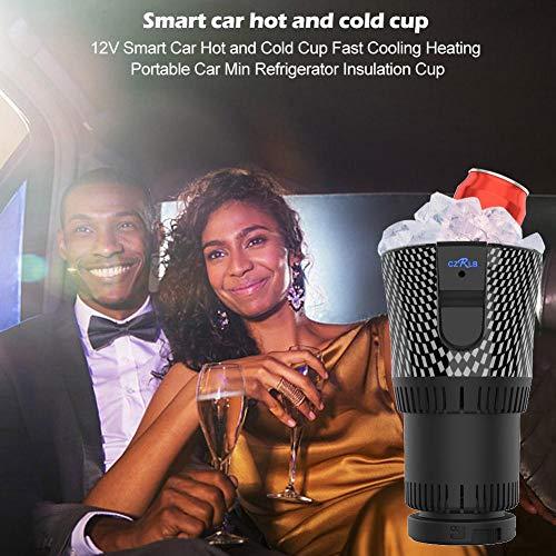 Ganmaov Auto Getränkehalter, Auto Electric Car Cup Kühler/Wärmer 12V 3A Halbleiter Mini Kühlschrank Getränkehalter kühlen oder Heizen Getränkedosen Kaffee in Minuten Classy Positive Designer