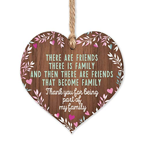 Friends plaque | Friends that are family wooden heart | gifts for friends women | best friend plaque | hug gifts motivational miss you gift | birthday Christmas
