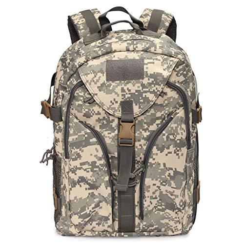 AOWU Outdoor-Sport-Rucksack, Nylon, Rucksack, Outdoor, Sport, Camping, Wandern, Trekking (Größe: Mitte, Farbe: ACU)
