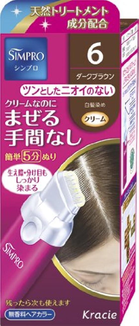 医学事前騒々しいシンプロ ワンタッチ無香料ヘアカラー 6