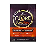 Wellness CORE RawRev Natural Grain Free Dry Dog Food, Original Turkey & Chicken with Freeze Dried Turkey, 10-Pound Bag