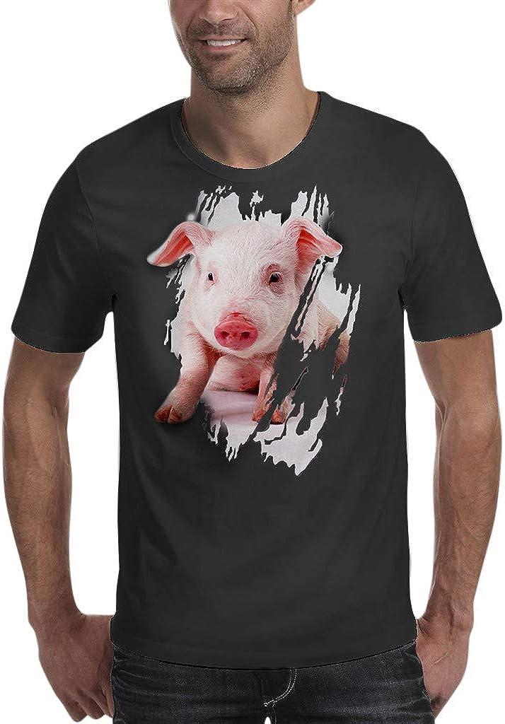 Jan STORE Men's Casual 3D Printed Short Sleeve Fun Tshirts Tees