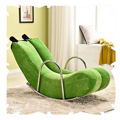 Lounge Chair Mecedora Silla de Playa Interiores Patio Mecedora clásico Salón sillones tapizados Retro tumbonas Mobiliario de Dormitorio Balcón Porches Rocker Asientos de 7 Colores