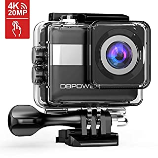DBPOWER 4K Action Camera, 2.31in Touchscreen 20MP Sony Sensor Sports Camera, EIS Wi-Fi Underwater Camera With 170° Wide-Angle Lens Including 2 Rechargeable Batteries And Accessories Kit (B07314N12V) | Amazon price tracker / tracking, Amazon price history charts, Amazon price watches, Amazon price drop alerts