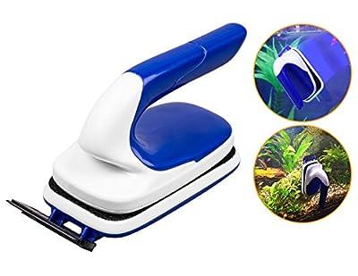 Poppypet Magnet Aquarium Brush, Handle Design Magnet Aquarium Cleaner, Aquarium Scraper and Aquarium Brush, Multifunction Fish Tank Cleaning Tools