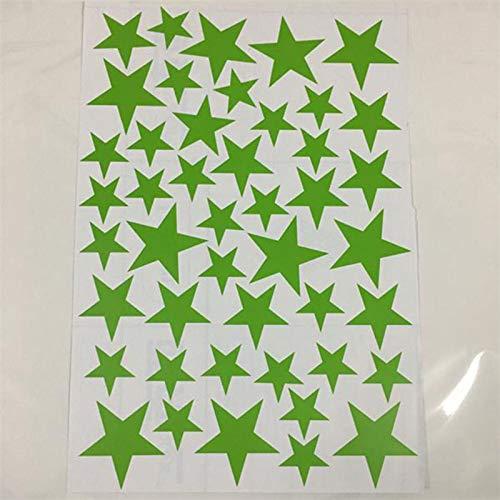 45 Uds pegatinas de pared estrelladas de dibujos animados para habitaciones de niños,calcomanías de pared de estrellas pequeñas,guardería de bebé DIY vinilo artístico Mural decoración del hogar-F