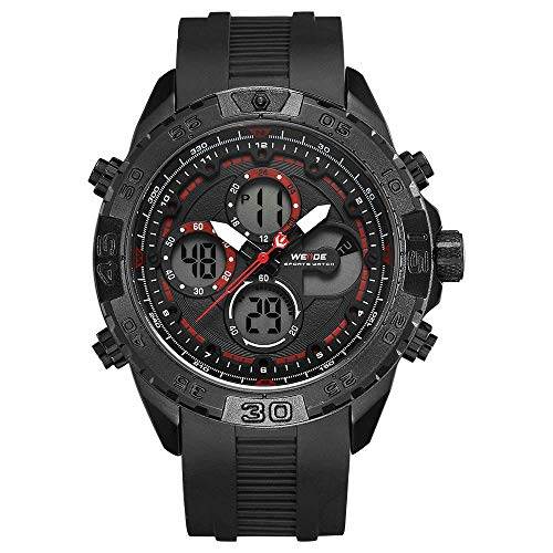 WH6909 Reloj electrónico digital de cuarzo Hora dual Calendario de alarma Cronómetro 3ATM Temporizador impermeable Hombres de negocios Moda Casual Deportes al aire libre Reloj de pulsera masculino