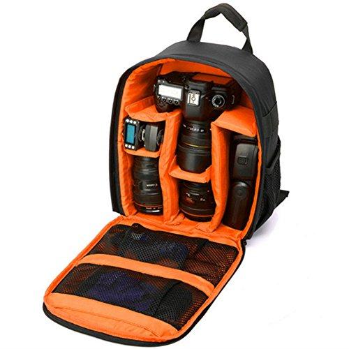 DRF Zaino Fotocamera per DSLR Lente anti-shock 33*26.5*12.5cm #BG250 (Arancione)