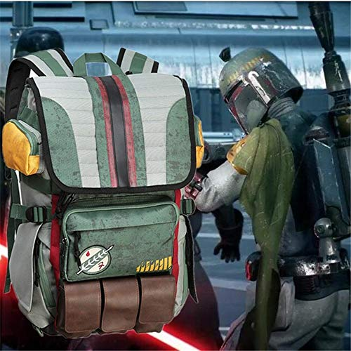 YUK Movies Star Wars Backpack Boba Fett Mandalorian Armor Backpack Student School Bag Casual Travel Backpack