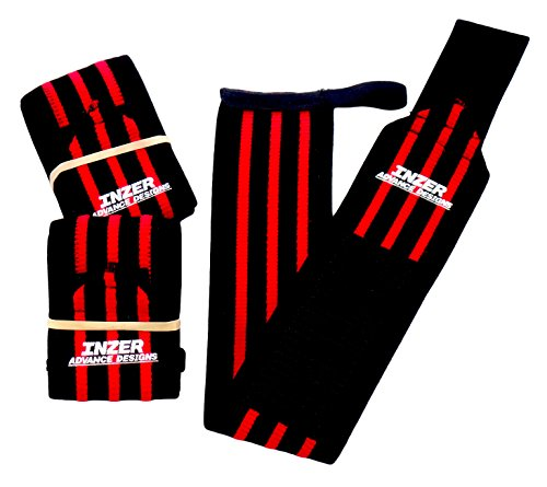 inzer Eisen Handgelenkbandage, Z (Paar)–Powerlifting, Gewichtheben, Crossfit, rot, Small (12
