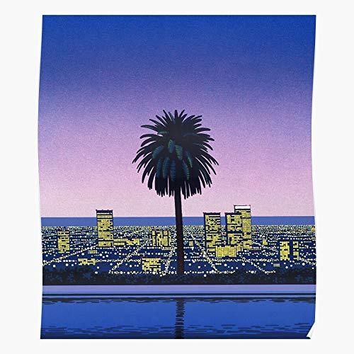 BLUEFLY Tumblr 90S Nagai Vintage Pastel Hiroshi 80S Vaporwave for Home Decor Wall Art Print Poster