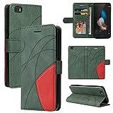 Coque de protection en cuir pour Huawei P8 Lite - Étui portefeuille avec fentes pour cartes - Étui...