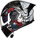 Casco De Motocicleta Casco Completo Bluetooth Aprobado Por ECE Personalidad Invierno Hombres Y Mujeres Cuatro Estaciones Casco Antivaho