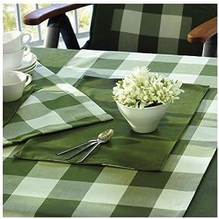 Sun Garden 10121186 90226-2 bordsset 2-er 32 x 48 dessin karo grön/uni grön