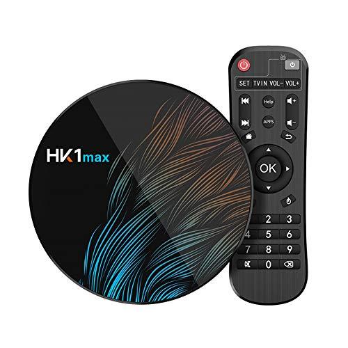 Sidiwen Android 9.0 TV Box HK1 Max 4GB RAM 64GB ROM RK3318 Quad-Core Dual WIFI 2.4G/5G BT 4.0 Ethernet H.265 USB 3.0 Supporta 3D 4K Ultra HD Smart TV Box
