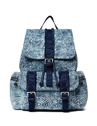 Desigual Women_Galaxy Tribeca - Mochila para mujer, color azul marino