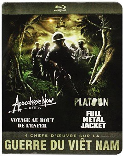 Guerre du Vietnam-Coffret 4 Films : Apocalypse Now + Platoon + Full Metal Jacket + Voyage au Bout de l'enfer [Blu-Ray]