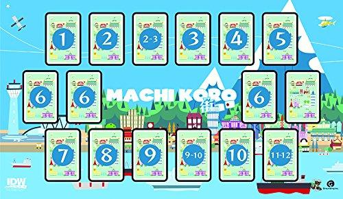 IDW Games IDW00665Mat - Machi Koro Spiel Mat