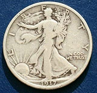 1917 P Walking Liberty 90% Silver Half Dollar Full Good or Better Full Date and Motto US Mint