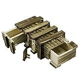 Locisne Caja de regalo de madera mágica 2 compartimentos de almacenamiento...