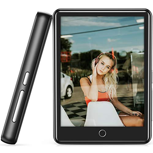 MP3 Player, 16GB MP3 MP4 Player with Bluetooth 5.1, 2.8'' Full Touch Screen Portable Bluetooth MP3 Player with Built-in Speaker, FM Radio, Recorder, HiFi Lossless Music Player, Support up to 128GB