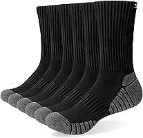 TANSTC Sneaker Socken Herren Damen Baumwolle Laufsocken Atmungsaktiv Weich Lange Warm rutschfest Sportsocken Schwarz Weiß...