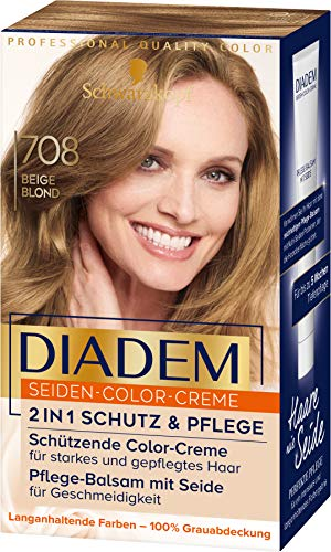 Diadem Seiden-Color-Creme 708 Beige Blond Stufe 3, 3er Pack(3 x 170 ml)
