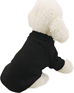 Solid Winter Pet Dog Clothes for Dog Small Dogs Coat Soft Warm Puppy Sweatshirt for Yorkies Chihuahua Teddy Bulldog