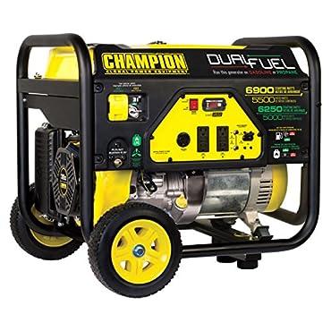 Champion 100231 Dual Fuel Portable 5500-Watt Generator with Wheel Kit