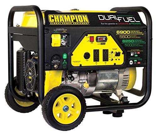 Champion Power Equipment 100231 6900/5500-Watt Dual Fuel Portable Generator with Wheel Kit