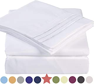 Premium 4 Piece Bed Sheet Set 1800 Thread Count Bedding 100% Microfiber Polyester - Silky Soft, Warm, Breathable, Cooling, Wrinkle and Fade Resistant - 10-16