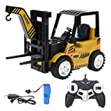 Toyvian 1 Set Remote Control Forklift Toys 5 Channel Full Functional Professional RC Forklift Construction Toys DIY Engineering Truck Toys